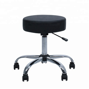 PU leather Rolling Bar stool Chairs with Adjustable Height and 360 Degree Rotation Casters for Salon