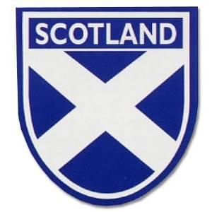 stickyrico1 Scottish Gifts - Scottish Car Sticker - Scotland Flag - Saltire - Shield - UK Gifts