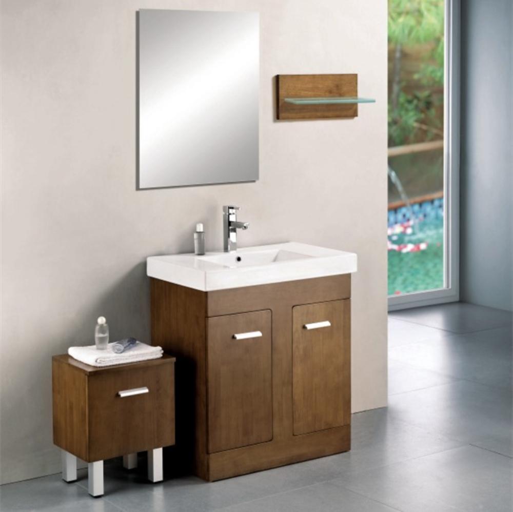 Expresso Design de Madeira Armário De Banheiro Com Armário LateralPenteadeir -> Armario Lateral Banheiro