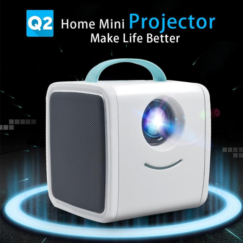 Q2 Multiple Interfaces Durable Mini Projector 1080P Full HD Children Education Portable Projector Cartoon TV Home Theatre Beamer