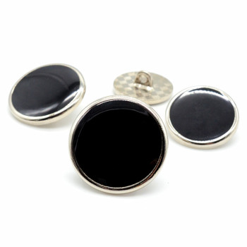COOMAMUU Hot Sale Patchwork buttons Black Round Buttons 20mm For Clothes Garment Diy Sewing Supplies