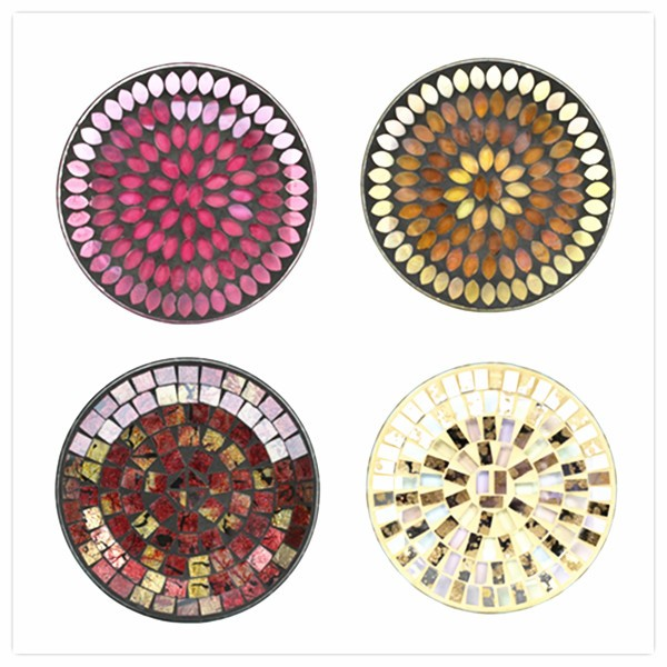 30cm Leopard Arts Design classical style mosaic tiles decorative glass plate wall art
