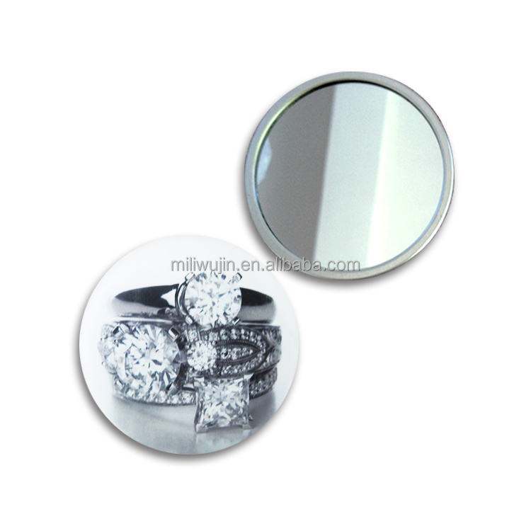 Round shape 75mm flexible custom made metal compact mirror