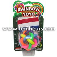New Novelty Toy Wristband Rainbow Yo Yo Return Light Ball