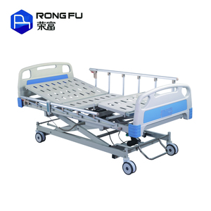 Electric icu hospital bed equipment with mattress bedside cabinet