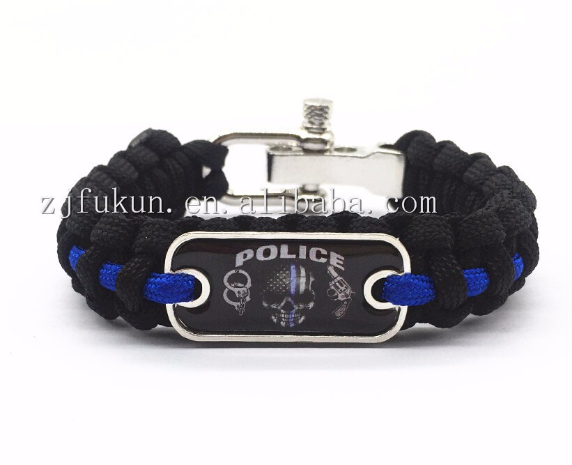 lives police line cops bracelet flag paracord survival support matter thin blue