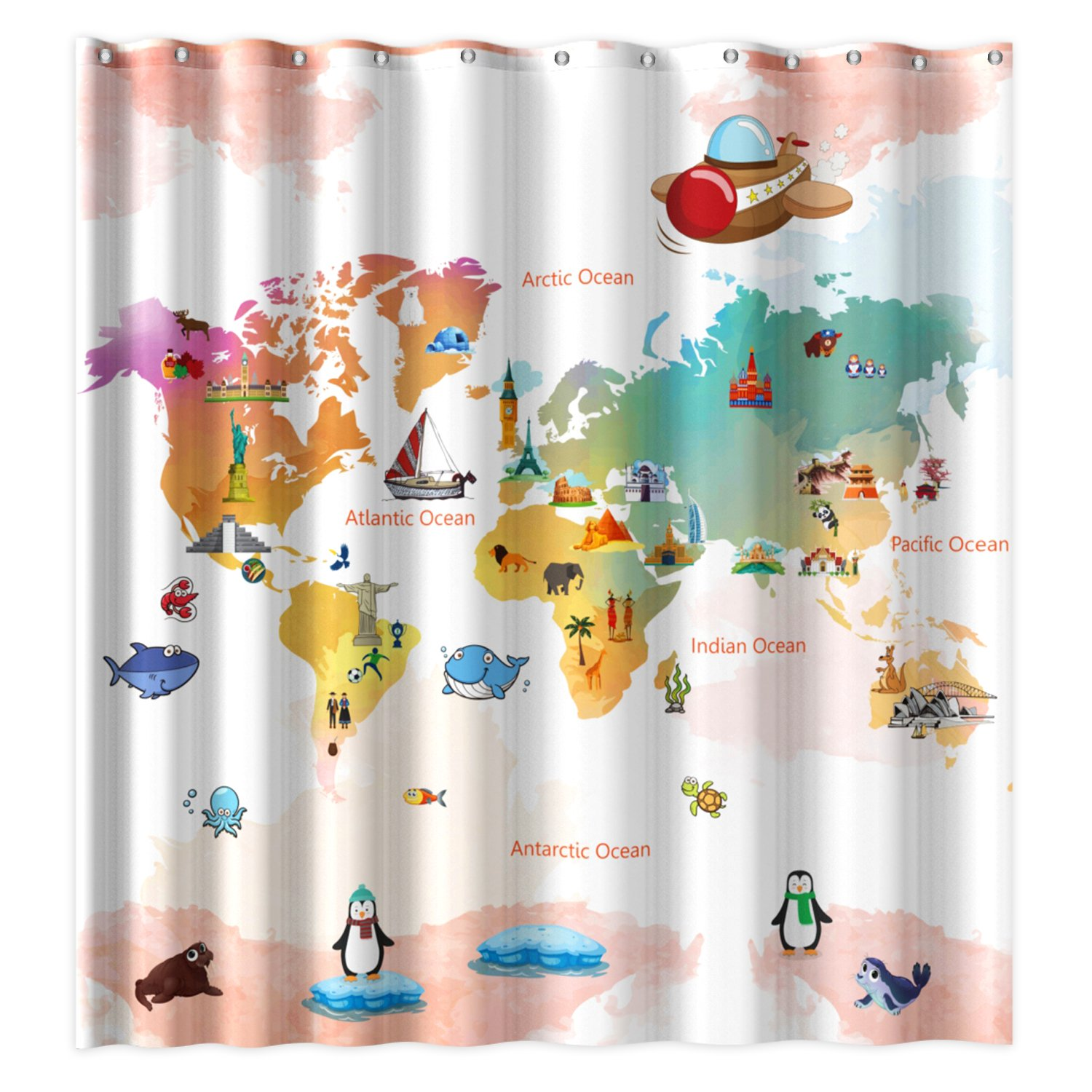 Buy Wimaha Kids Shower Curtain Fabric Shower Curtains Soft