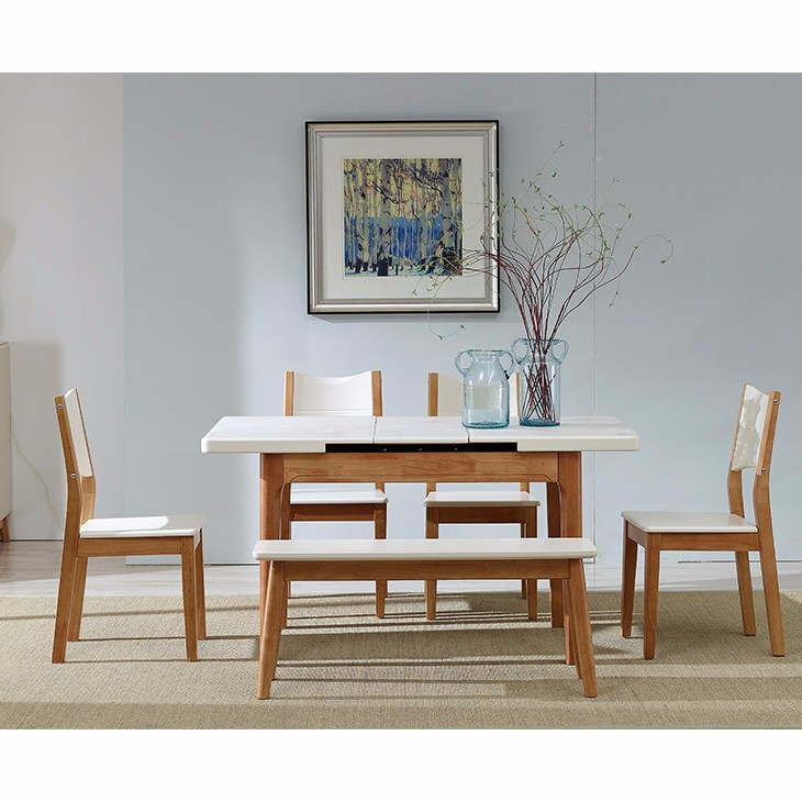 Muebles modernos de madera juego de comedor en blanco oculto con ...