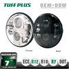 7 inch Round PC lens Auto 80w led Sealed Beam headlight for jeep or motorcycle
