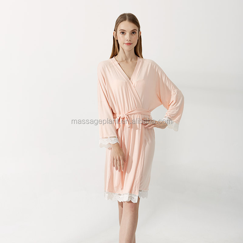 2017 New Design Satin Sexy Cotton Lace Robe Rayon Cotton Robes - Buy ... c8bf30b5f