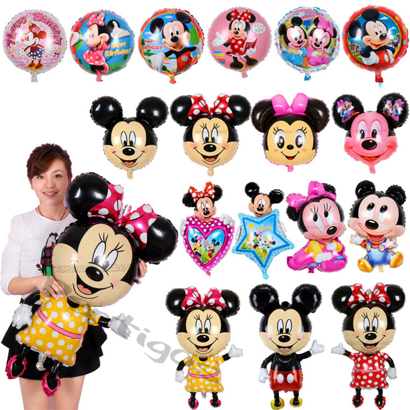 cartoon children toys golobs mickey & minnie mouse shaped foil balloons