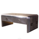 Vintage Aluminium Polished Aviation Trunk Coffee Table