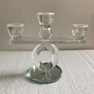3 heads wedding table crystal votive candle holder