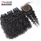 Top quality sells well unprocessed wholesale virgin hair no track brazilian water wave hair extensions