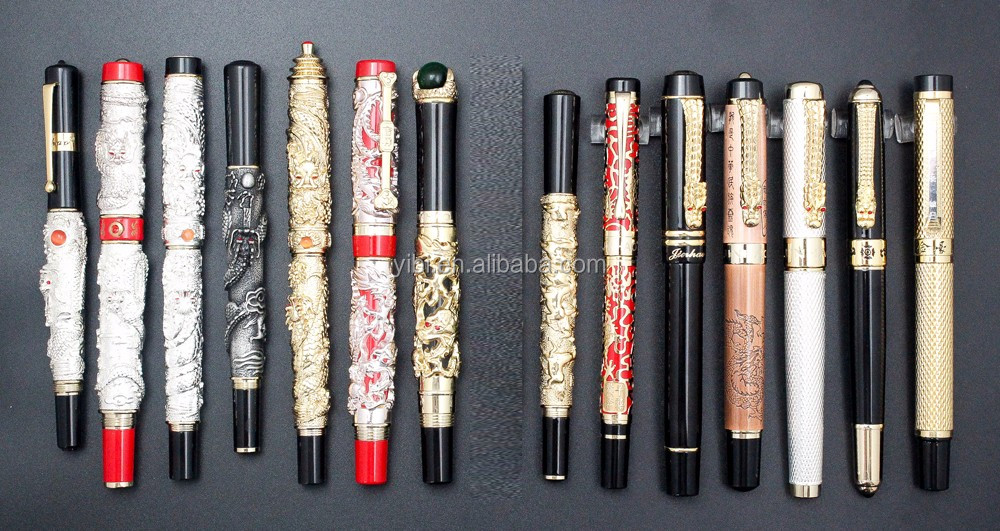 Jinhao pens Chinese dragon pen luxury gold roller ballpoint pen