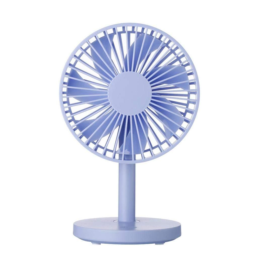 USB Table Desk Personal Fan, Protable Desktop Fan USB Mini Electric Fan Table Fan 3-Speed Wind Adjustable (blue)