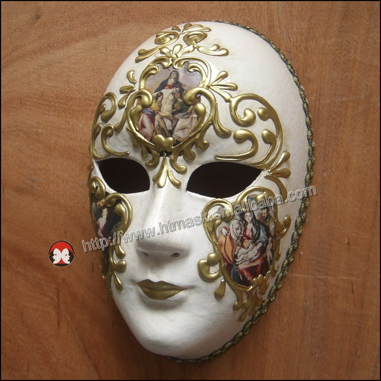Full Face Musical Silver Venetian Wall Decoration Masks ...
