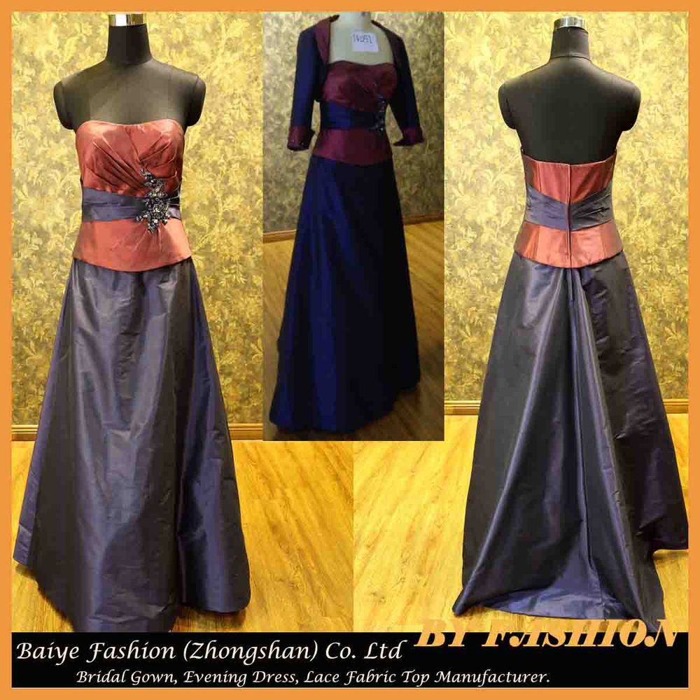 Evening Gown Designs for Fat Girl Mother Party Gown Waist Coat BYE ...