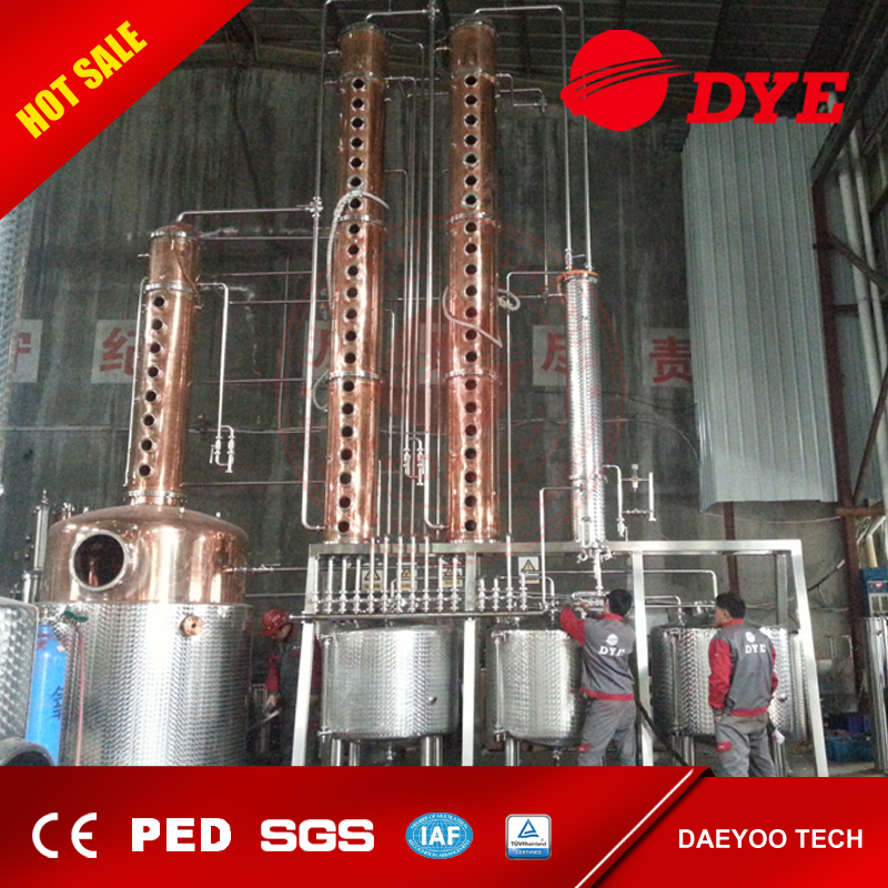 High Quality Price alcohol distillation equipment with copper bubble plate