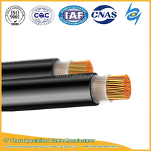 Plain annealed flexible copper conductor power cable with PVC insulation PVC sheath