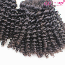 Homeage alibaba express wholesale crochet braids with human malaysian virgin hair tiny curl