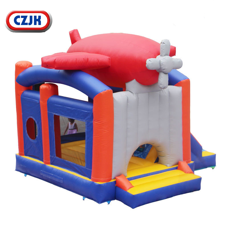 Airplane Wholesale Commercial Moon Happy Castle Inflatable 15x15 Bounce House For Sale