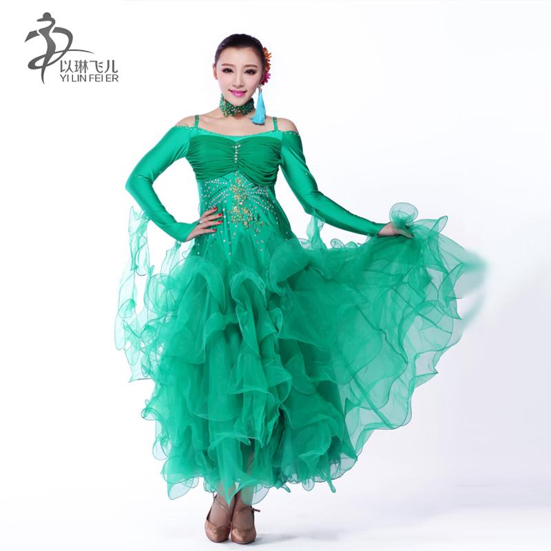 46ad5ecb810d Get Quotations · AAW 2015 new fashion long ballroom dress practice modern  tango dance dresses ballroom hot sale dresses