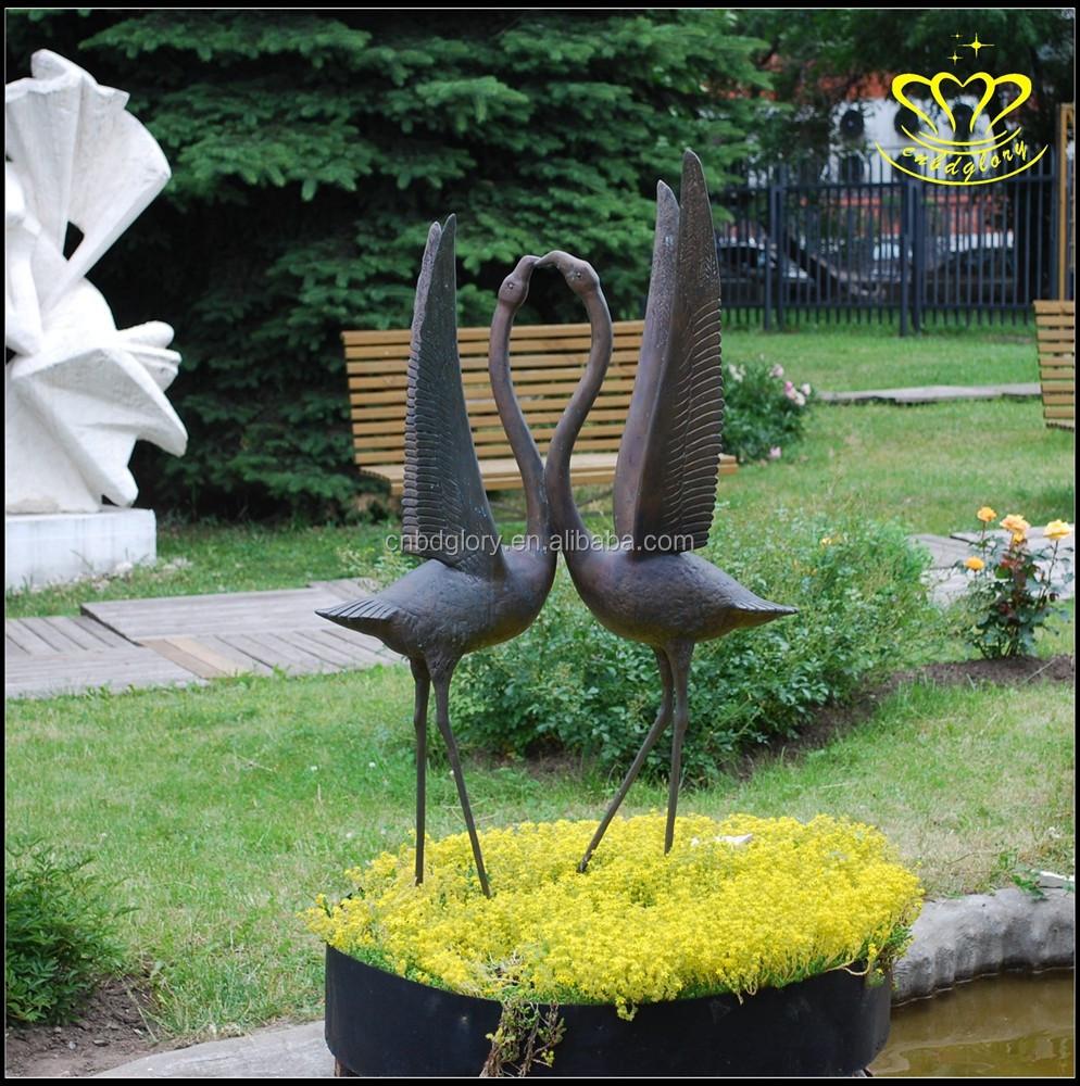 Metal Garden Decorative Flamingo Statue - Buy Large Outdoor Bronze ...
