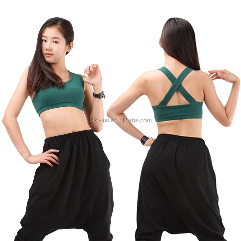 Women Adult Girls Nylon Lycra Crop Bra Dance Yoga Tops Wholesale c97c8ca5c96