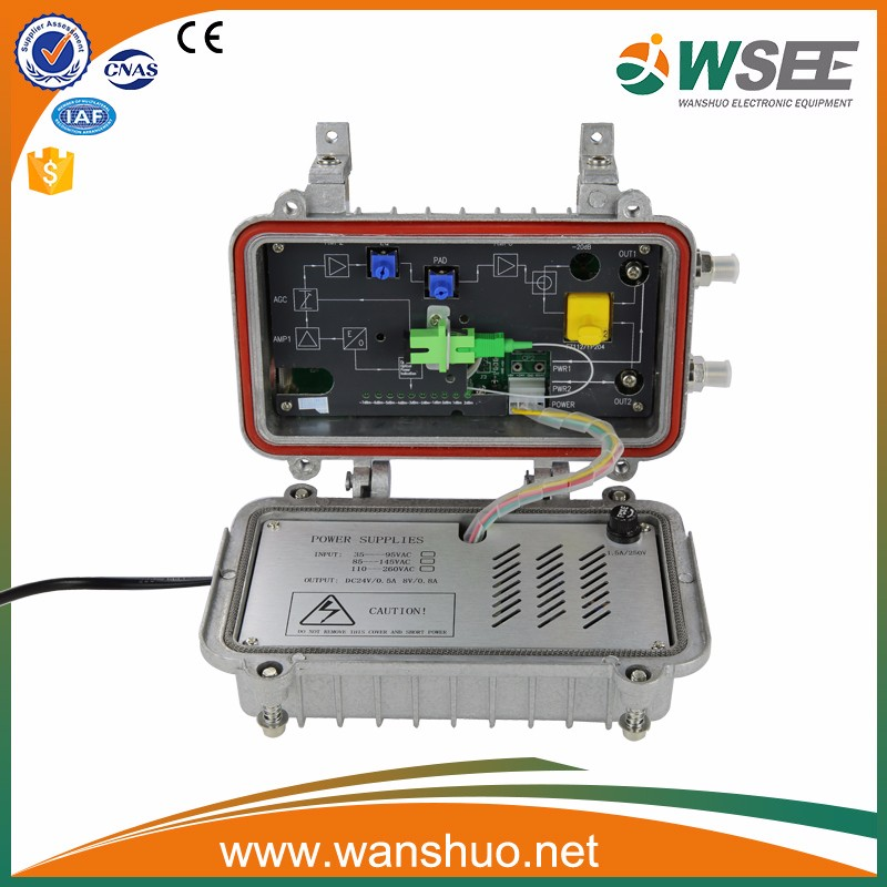 Two way return path fiber optical node receiver for CATV with AGC OR303