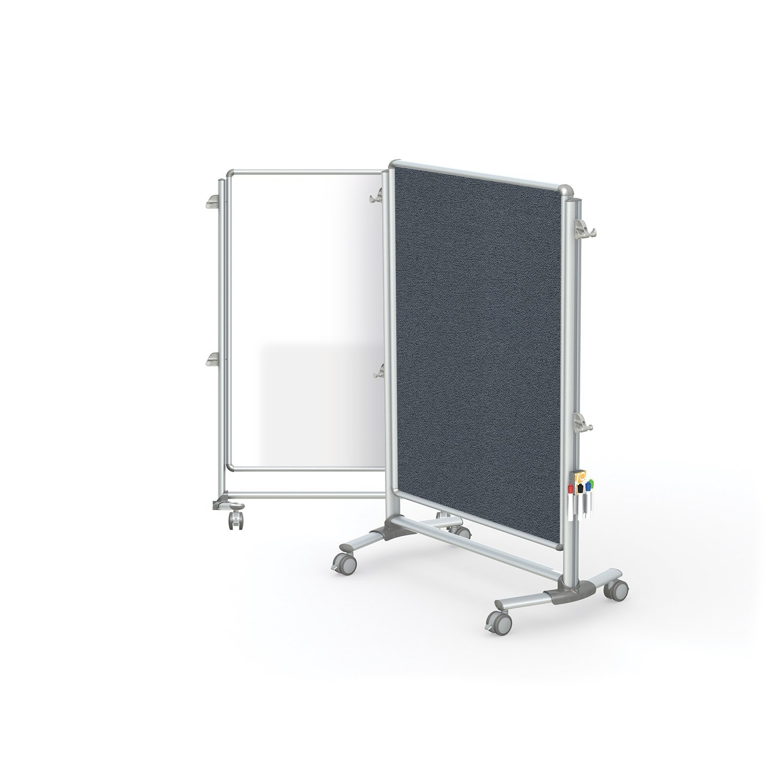 "Ghent 57-3/8"" x 40-3/8"" Nexus Jr. Partition, Magnetic Whiteboard/Bulletin Board, Double-Sided (NEX223MFP-91)"