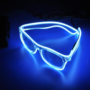 jaxy 2018 new custom wholesale 3d el light glasses for bar ktv concert christmas halloween