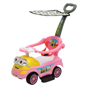 sliding toy kids ride on swing car baby slide car 3 in 1 with push handle