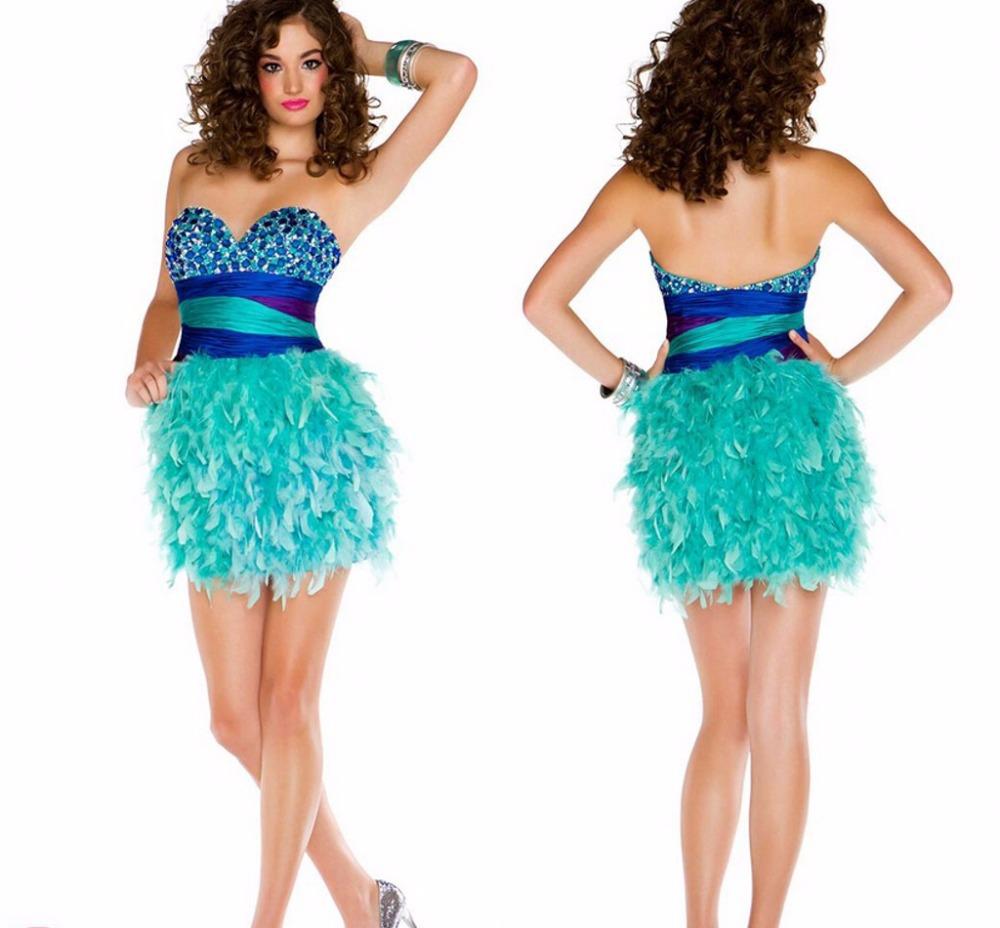 Ziemlich Feathered Cocktail Dress Bilder - Brautkleider Ideen ...