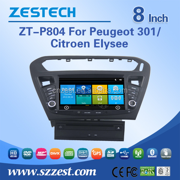 fit for peugeot 301 elysee car dvd gps navigation with radio audio car multimedia