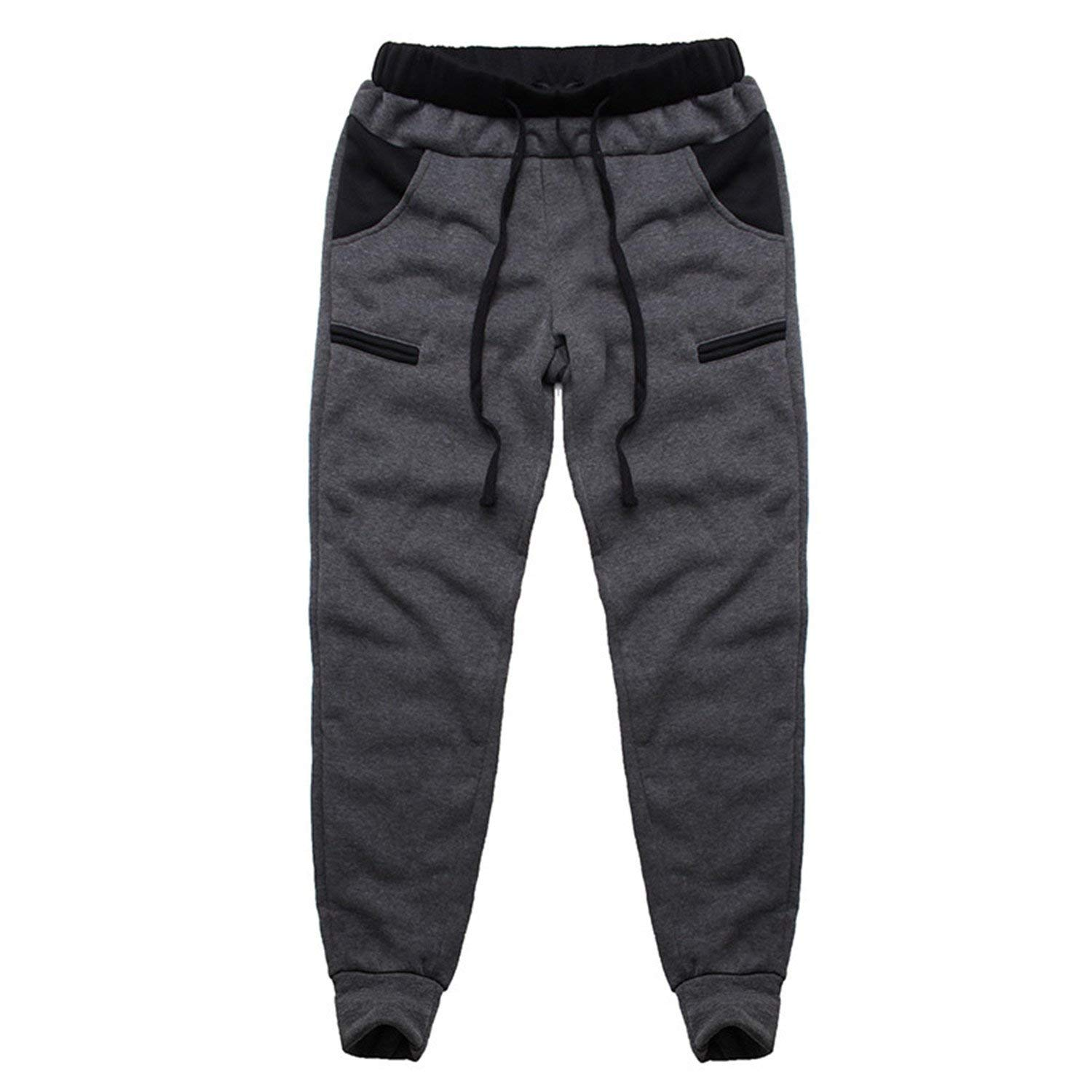 748ba2fda08 Get Quotations · Jeff Tribble Mens Track Pants Casual Baggy Lined Tracksuit Trousers  Jogger Pants Plus Size 3XL