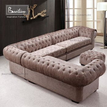 Modern Fabric Sofa Hot Sell Tufted Sofa With Crystal Button