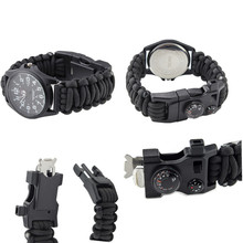 Überleben Paracord Außen Armband Multifunktions Uhr Mit Kompass Thermometer <span class=keywords><strong>Pfeife</strong></span>