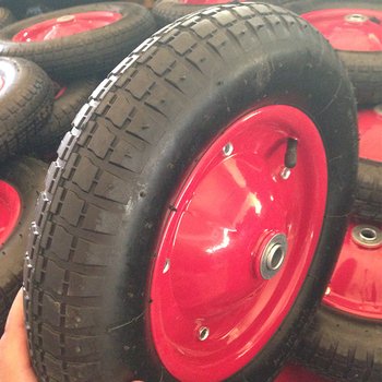 High performance 3.25-8 inflatable 2PR air Rubber wheels for trolley