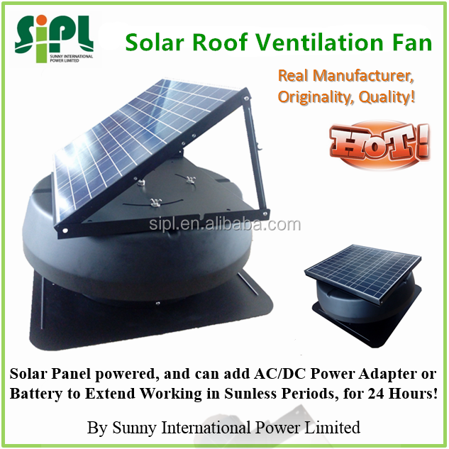 solar powered cooling fan solar roof air extractor 18 volt attic exhaust fan