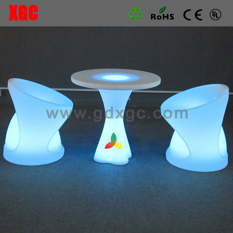 LED FURNITURE 16 color changeble plastic chair table for club party