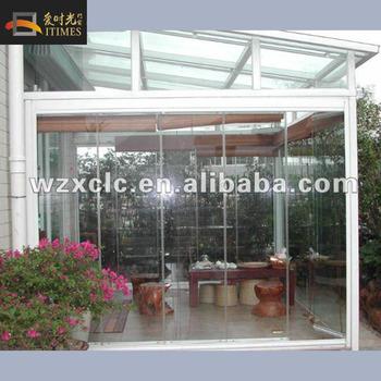 Prefab aluminium frame double tempered glass 4 season sunroom