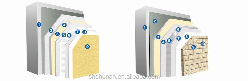 détail d'installation de placage de brique