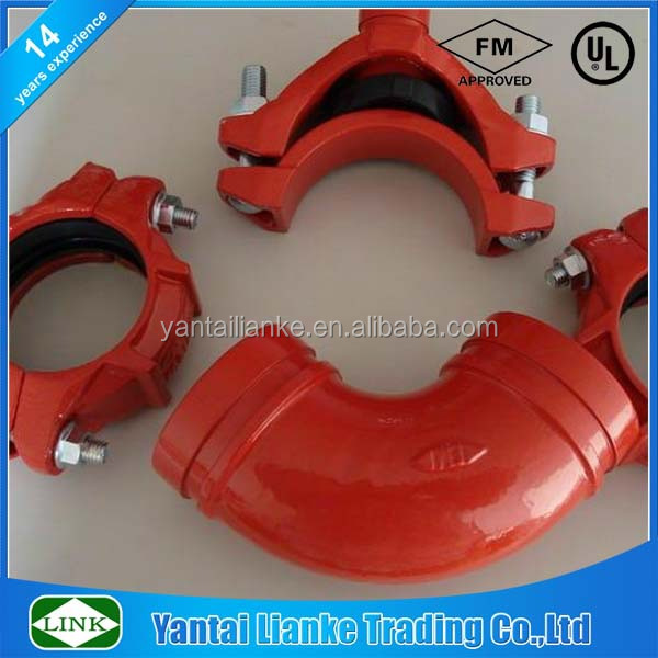 epoxy coated ductile iron pipe fittings for fire fiahtin system fire fighting pipe fitting