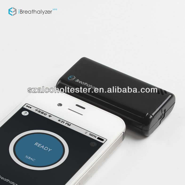 Mini-sized, retractable plug, a keyring to carry iBreathalyzer Mini Alcohol Tester for Cell Phone