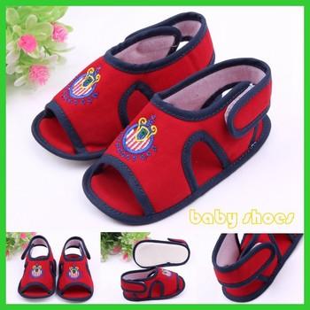 Cheap Newborn Soft Sole Cotton Fabric Baby Barefoot Sandals - Buy ...