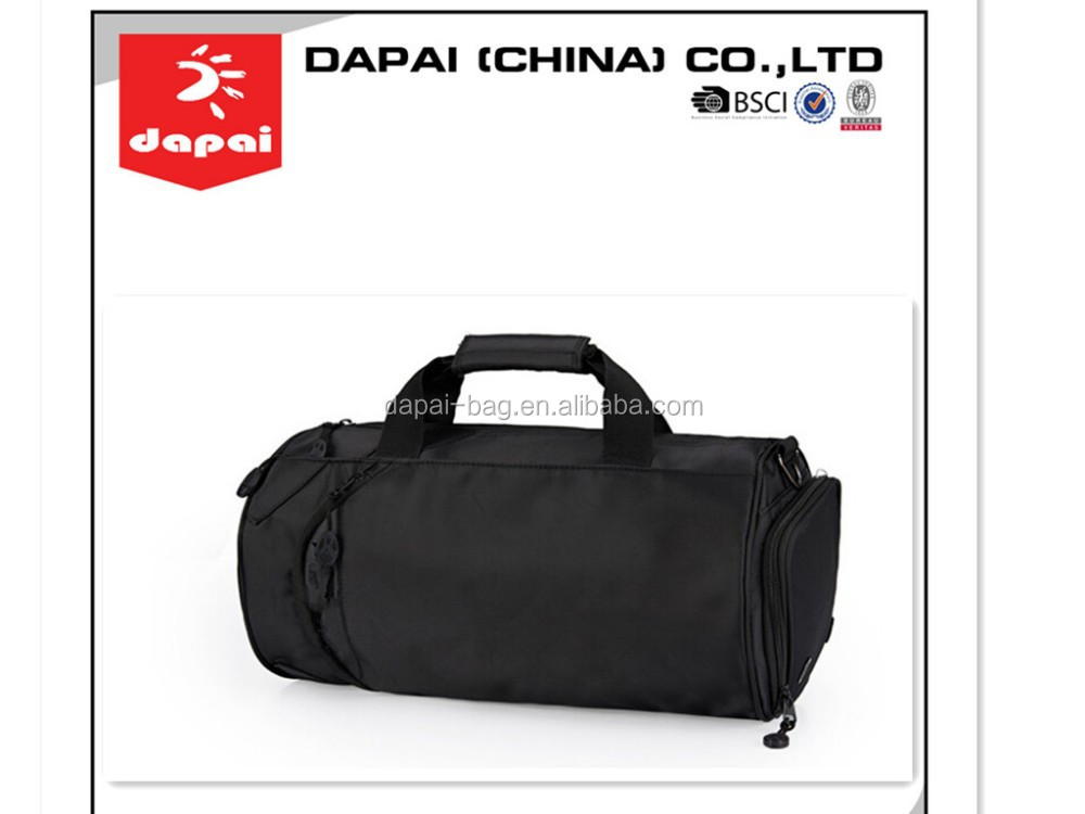 2015 small size sporting gym duffle bags durable black travel bags