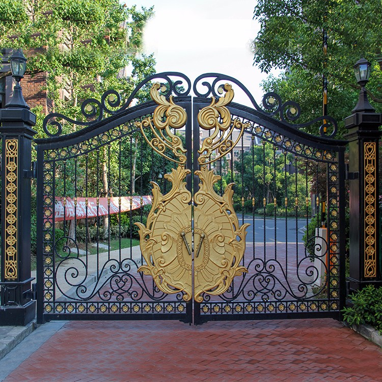 Antique Wrought Iron Main Gate Designs