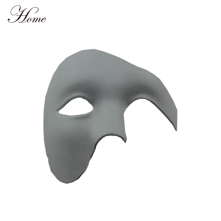 Blank White and Black Masquerade full face mask adult Halloween midnight costume