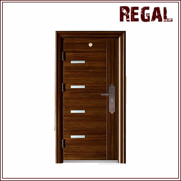Flat panel metal front door main door design security door for Main door design for flat